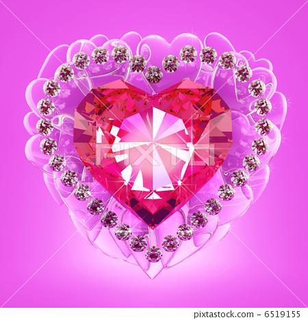 Ruby heart 6519155