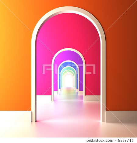 Archway to the colorful future. 6538715