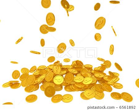 gold coin coin point stock illustration 6561892 pixta