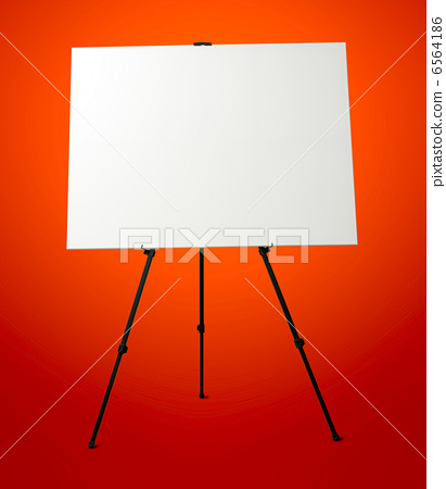 Blank Canvas on Easel Stand. Art Studio Empty Background 6564186