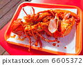 Grilled large lobster in mexican restaurant 6605372