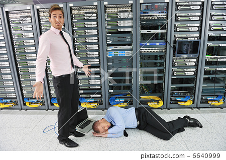 system fail situation in network server room 6640999