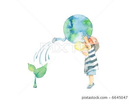 Eco image of the earth and boy 6645047