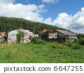 在北海道的一个孤独的定居点 6647255