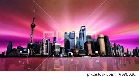 Shanghai Skyline 6689020