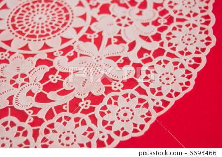 繫帶白色紅色花紋花樣背景背景材料 6693466