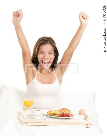 Happy morning breakfast woman 6700326