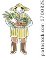 old, lady, vegetables 6700825