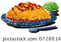omelet, rice, omelette 6728614