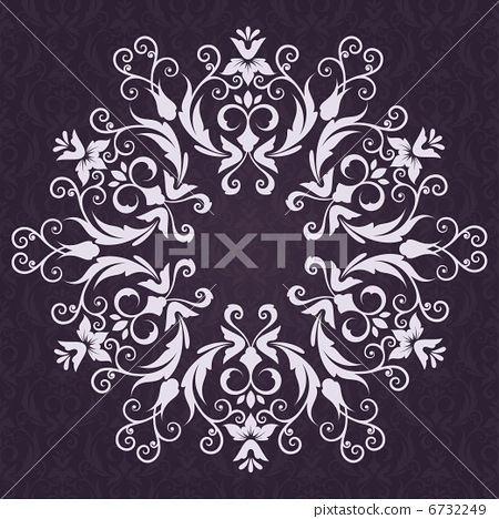 Lace Invitation card with abstract floral background. 6732249