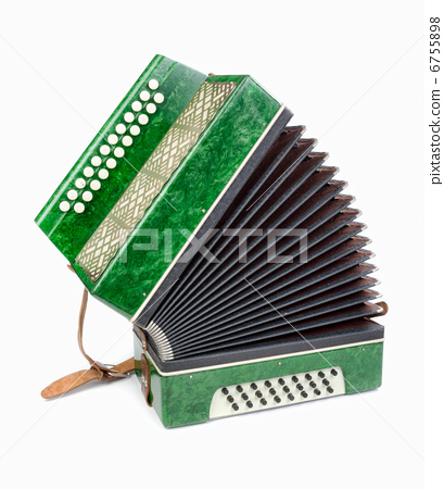 Green Accordion, isolated on white background 6755898