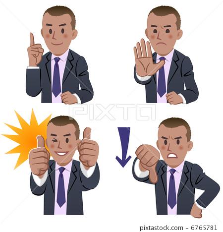 Businessman facial expression thumbs up thumb 6765781