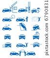 車禍,財產損壞,故障等的故障的象形圖 6790831