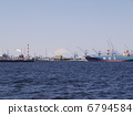 Scenery of the harbor where Fuji can be seen 6794584