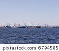 Scenery of the harbor where Fuji can be seen 6794585