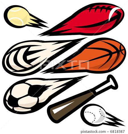 Stock Illustration: ball, balls, current