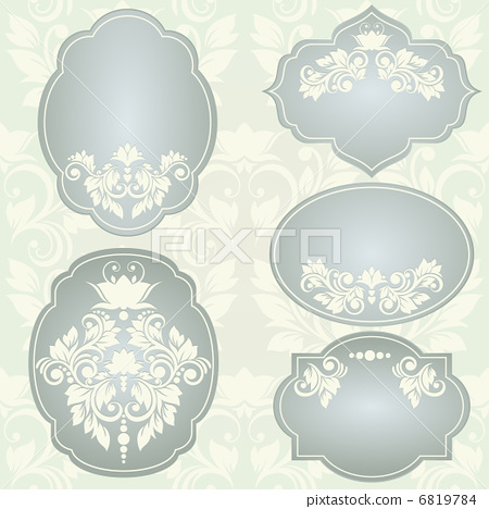 Set of  vector frames with floral ornaments 6819784