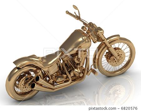 Motorcycle golden conceptual model 6820576