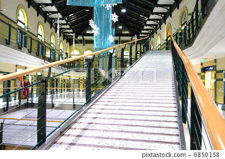 Empty Shopping Mall Plaza in Budapest Hungary Millenium Center 6850158