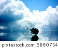 Lamp on clouds background 6860754