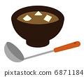 된장국과 달걀 6871184