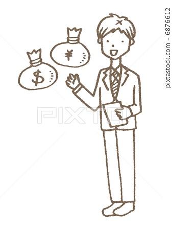 Businessman and dollar yen 6876612
