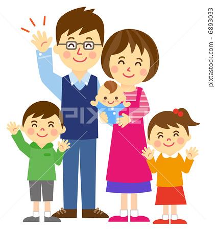 건강한 가족 전신 6893033