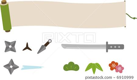 Scrolls and ninja tools 6910999