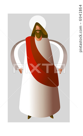 Close-up of Jesus Christ standing 6941864