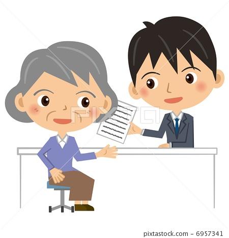 Businessman and senior women 6957341