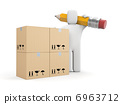 Person work with boxes 6963712