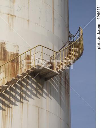 Spiral Staircase Of Storage Tank, Spiral Staircase Storage