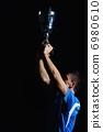 soccer players celebrating victory 6980610