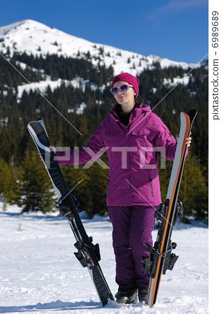 winter woman ski 6989689