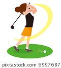 골프가 서툰 여성 6997687