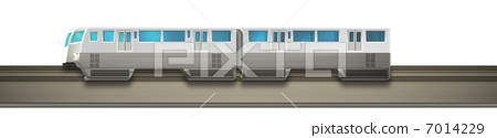monorail, silver, gray 7014229
