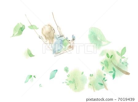 Swing and girl 7019439