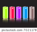 Vector Set of Colorful Full Batteries 7021178