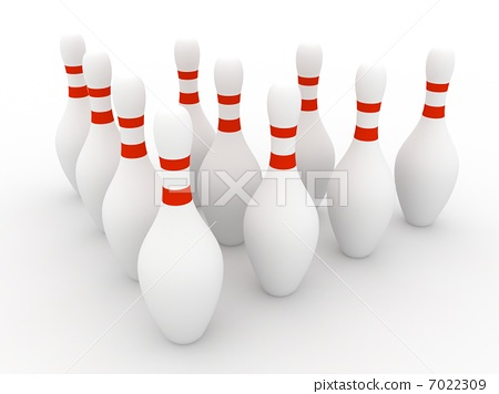 Bowling Pins on white background 7022309