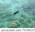 snorkeling, snorkel, blue 7024023