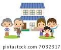 三代家庭和房子 7032317