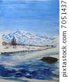 Sketch picture of Mt. Chokai Akita Fuji Akane Fuji Shonai Fuji 7051437