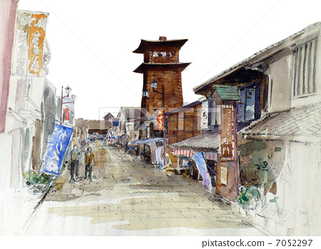 Kawagoe · Time's bell sketch picture 7052297