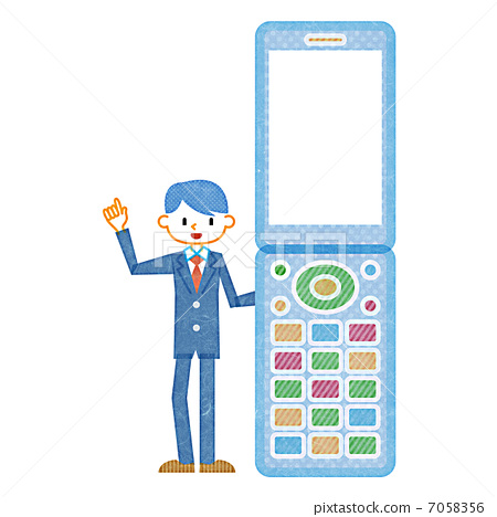 Mobile phone and businessman 7058356