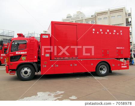 Stock Photo: firetruck, fire-engine, fire