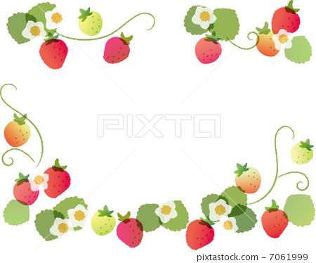 frame, strawberries, strawberry - Stock Illustration [7061999] - PIXTA