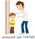 身高测量父母和孩子 7087442