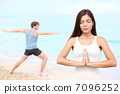 Yoga meditation couple 7096252