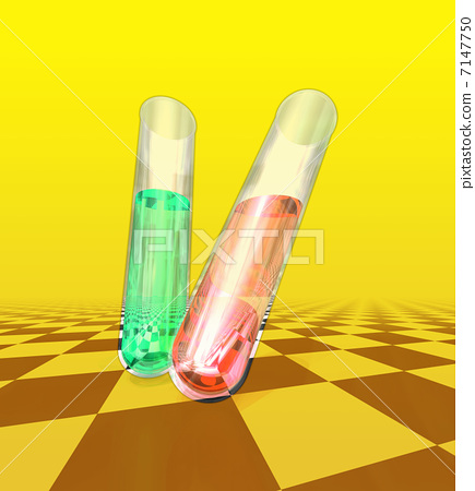 Reagent / chemical experiment in test tube 7147750