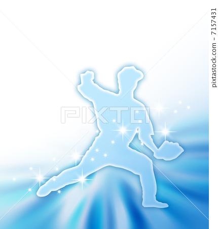 Throwing foam silhouette 7157431